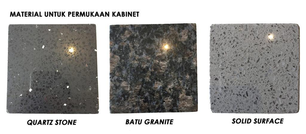 Antara Table Top Yang Por Adalah Granite Solid Surface Dan Quartz Stone Ketiga Tiga Material Ini Mempunyai Kelebihan Kekurangan Tersendiri