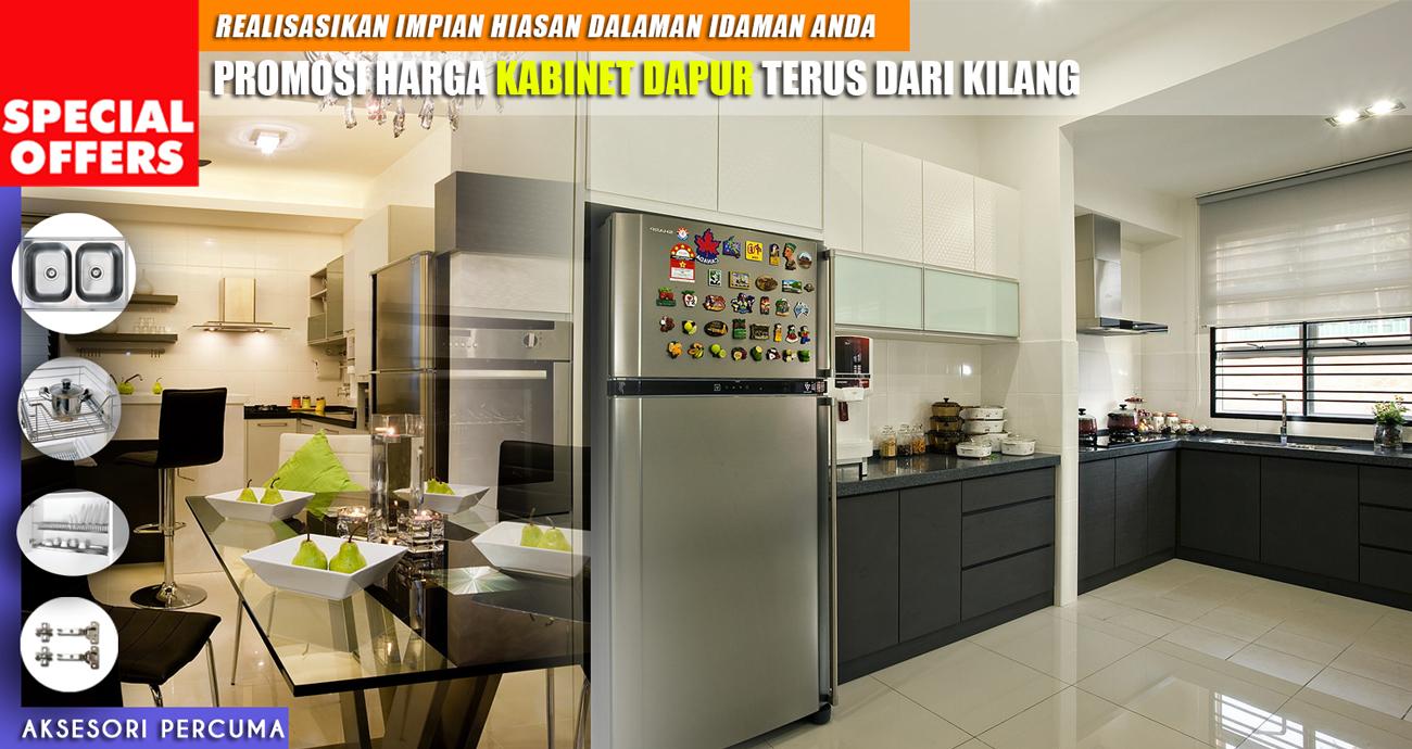 Promosi Kabinet Dapur Pelbagai Pilihan Material