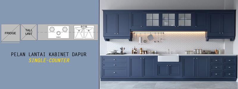 5 Jenis Susun Atur Kabinet Dapur Menarik Azr Kitchen Cabinet